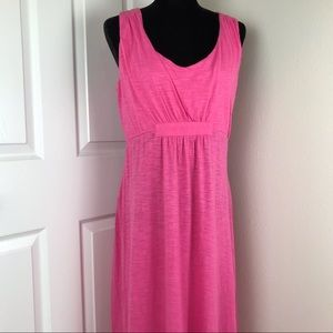 Caribbean Joe hot pink sleeveless maxi dress